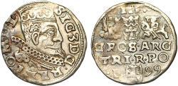 World Coins - Poland. Rzeczypospolita. Poznan. king Sigismund III. AR 3 Gross 1599, VF