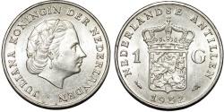World Coins - Netherlands. Antilles. AR 1 Gulden 1952. UNC