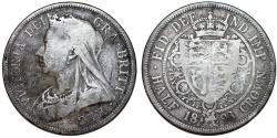 World Coins - Great Britain. Queen Victoria (1837-1901) AR Half Crown 1893. Toned Fine+