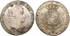World Coins - Poland. King S. Poniatowski (1764-1795). AR 1/2 Taler 1788. aVF/VF, toned