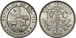 World Coins - Bolivia. Republic. Ni 10 Centavos 1939. UNC