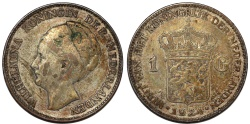 World Coins - Netherlands. Queen Wilhelmina (1890-1948). Silver 1 Gulden 1924. VF+, toned