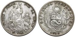 World Coins - Peru. Republic. AR 1/2 Sol 1935. VF+