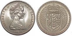 World Coins - New Zealand. Elizabeth II. CuNi Dollar 1967. Choice UNC