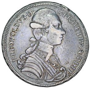 World Coins - ITALY: Toscana. Pietro Leopoldo di Lorena (1765-1790) AR Francescone (10 Paoli) 1783. VF, toned