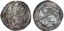 World Coins - NETHERLANDS. Overyssel Province. AR Lion Daalder 1641, Nice VF.