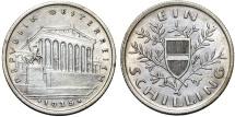 World Coins - Austria. Oestereich Republic. AR 1 Shilling 1925. UNC
