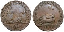World Coins - Germany. Metz. AE Jeton 1674. ON the baptism of Casmir son of City Administrator. About VF