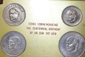 World Coins - Taiwan 4 Coins Mint Set Sun Yat Sen Centennial 1965. Choice UNC, STUI
