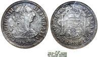 "World Coins - Mexico. AR 2 Reales 1783 FF. SHIPWRECK ""El Cazador"". ANACS VF20"