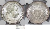 World Coins - Austian Empire. Franc Josef I (1848-1916). AR Florin 1892. NGC AU58