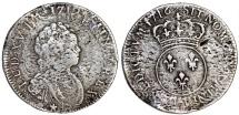FRance. King Luis XV. RARE Silver 1/5 Ecu 1716. Fine