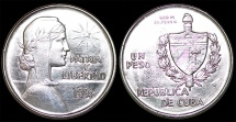 "Cuba. Republic. Silver 1 ""ABC"" Peso 1934. AU, cleaned"
