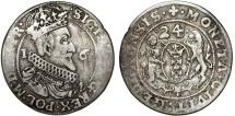 World Coins - Poland. City of Danzig. Sigismund III (1587-1632). Silver 1/4 Taler 1624/3. Fine+