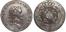 World Coins - Poland. King S. Poniatowski (1764-1795). AR Taler 1772/0 A-P. Nice XF, RARE DATE, gray toning