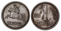 World Coins - Lithuania. AE 1 Centas 1936. AU/UNC