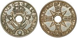 World Coins - British Occupation: New Guinea. AR 1 Shilling 1935. XF+, cleaned