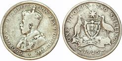 World Coins - British Commonwealth: Australia. Silver Florin 1925. Fine+
