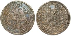 World Coins - Germany: MANSFELD-FRIEDEBURG. Peter Ernst I (1532-1604). AR Taler 1593. Choice VF, toned