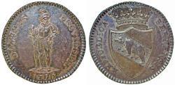 World Coins - Switzerland. City of Bern. AR Half Taler 1796. Nice AU/Choice XF.