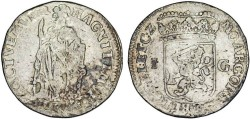 World Coins - Netherlands. Gelderland. AR 1 Gulden 1713. AVF