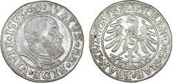 World Coins - Duchy of Prussia (Ex-Teutons State). Albrecht von Hohenzollern (1525-1568) Silver Gross 1532, VF