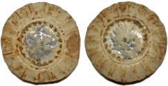 World Coins - Thailand. (Siam.) King Rama V. Ceramic Gambling Token ND. Fine