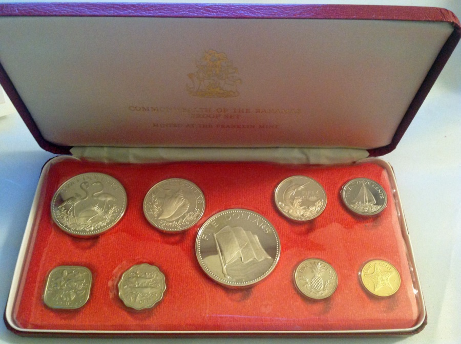 World Coins - Bahamas Islands. Queen Elizabeth II (1952- ). Proof Set of 9 Coins 1975. PERFECT