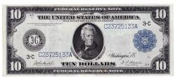 Us Coins - UNITED STATES - Fr. 914 Ten Dollar Federal Reserve Note, Series of 1914, W-1570-C-b, Philadelphia