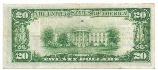 US Coins - Wisconsin, Milwaukee, Ch. 64, First Wisconsin National Bank, Series of 1929 Type 1 $20