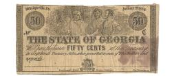 Us Coins - State of Georgia, January 1, 1864, 50 Cents, Cr. 31A, Martin/Latimer Type 22A