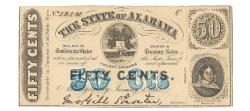 Us Coins - State of Alabama, January 1, 1863, 50 Cents, Cr. 4