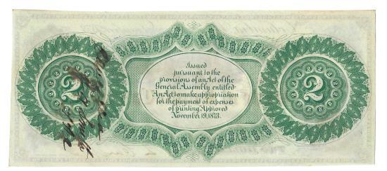 US Coins - State of South Carolina, December 1, 1873, 2 Dollars, Cr. 14