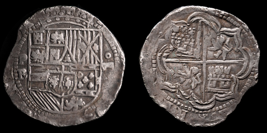 BOLIVIA Spanish Colonial Ca 1577 1585 PB 8 Reales Cob Philip II