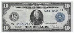 Us Coins - UNITED STATES - Fr. 929, Ten Dollar Federal Reserve Note, Series of 1914, W-1585-G-b, Chicago