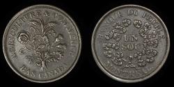 "World Coins - CANADA – LOWER CANADA – (ca. 1838) Bouquet ""Sou"" Token, Banque du Peuple, Br. 715"