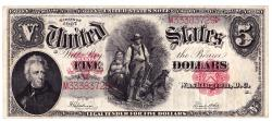 Us Coins - UNITED STATES - Fr. 91, Five Dollar Legal Tender, Series of 1907, W-677