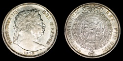 "World Coins - GREAT BRITAIN – 1816 Halfcrown, George III ""bull head"""