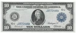 Us Coins - UNITED STATES - Fr. 940, Ten Dollar Federal Reserve Note, Series of 1914, W-1596-J-b, Kansas City