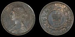 World Coins - CANADA – NEW BRUNSWICK – 1864 Cent, Victoria