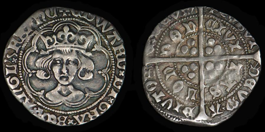 World Coins - ENGLAND – Edward IV Second Reign Groat, 1471-1483, London mint, S.2096 var