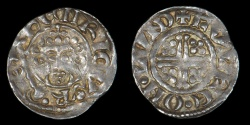 World Coins - ENGLAND – (1205 – 1207) Penny, John, Short-Cross type, in the name of Henry II, Class 5b2, London, Fulco