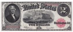 Us Coins - UNITED STATES - Fr. 60, Two Dollar Legal Tender, Series of 1917, W-330, PMG About Uncirculated 50EPQ