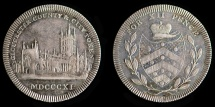 """World Coins - GREAT BRITAIN – Silver token 1811 Gloucestershire, Gloucester, anonymous issue Shilling, variety with period after """"COUNTY."""""""