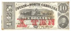 Us Coins - State of North Carolina, January 1, 1863, 10 Dollars, Cr. 122