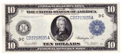 Us Coins - UNITED STATES - Fr. 915a Ten Dollar Federal Reserve Note, Series of 1914, W-1571-C-b, Philadelphia