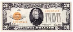 Us Coins - UNITED STATES - Fr. 2402, Twenty Dollar Gold Certificate, Series of 1928, W-2450