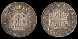 World Coins - PORTUGAL – Kingdom 1834 Cruzado Novo 400=480 Reis, Maria II