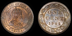 World Coins - CANADA – 1902 Cent, Edward VII