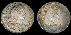 World Coins - ENGLAND – 1683 Twopence, Charles II
